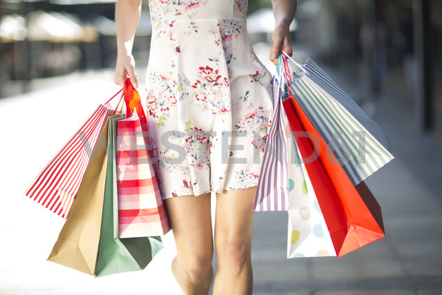 Young woman on a shopping spree - ZEF000159