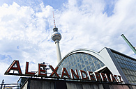 Germany, Berlin, Alexanderplatz Railway Station and TV Tower - PSF000661