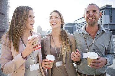 Three colleagues having fun at break time - ZEF000245