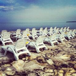 Deck chairs, Umag, Istria, Croatia - DAWF000158