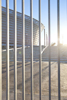 South Africa, Cape Town,  view to stadium through fence - ZEF000862