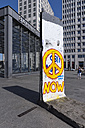 Germany, Berlin, Potsdam Square, form inner German border, piece of the Berlin Wall - WI001040
