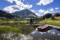 Austria, Vorarlberg, Koerbersee mountain lake - STSF000507