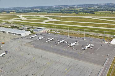 Germany, Bavaria, Munich, aerial view of Munich airport - KD000032