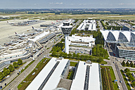 Germany, Bavaria, Munich, aerial view of Munich airport - KD000014