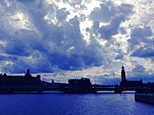 Sweden, Stockholm, Skyline with townhall - RIMF000287