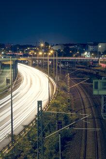 Berlin, Germany, motorway by night - CMF000176