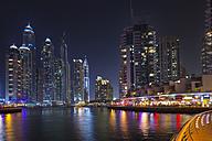 United Arab Emirates, Dubai, Dubai Marina at night - HSIF000346