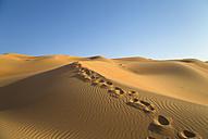 United Arab Emirates, Dubai, Rub al-Khali desert, the empty quarter, footprints - HSIF000358