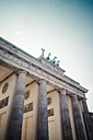 Germany, Berlin, Berlin-Mitte, Brandenburg Gate, Quadriga - KRPF001156