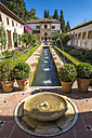 Spain, Andalusia, Granada, Alhambra, water garden - PU000073