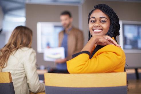 Portrait of smiling businesswoman - ZEF000884