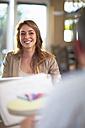 Portrait of smiling businesswoman - ZEF000900