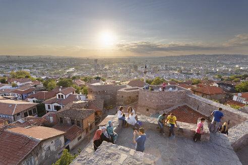 Turkey, Ankara, View of the city from Ankara citadel - SIE005917
