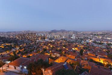 Turkey, Ankara, View of the city, Gecekondu dwelling - SIEF005923