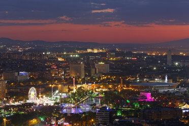 Turkey, Ankara, View of the city with Genclik Park - SIEF005925