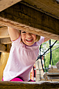 Happy little girl on playground - LVF001883