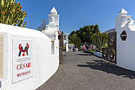 Spain, Canary Islands, Lanzarote, view to entrance gate of Foundation Cesar Manrique - AM002834