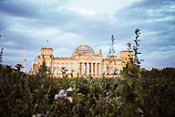 Germany, Berlin, Berlin-Tiergarten, Reichstag building in the evening - KRPF001140