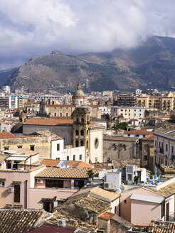 Italy, Sicily, Palermo, View to old town - AMF002838