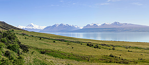 New Zealand, South Island, Lake Pukaki, Panorama - WVF000653