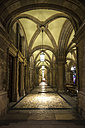 Austria, Vienna, colonnade at opera house at night - PU000080