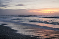 New Zealand, South Island, Punakaiki, sunset over beach - WV000734