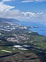 Spain, Canary Islands, La Palma, view from Mirador de el Time to Los Llanos de Aridane and El Paso - AMF002859