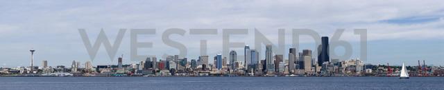 USA, Washington State, Puget Sound and skyline of Seattle - FOF007112