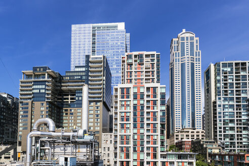 USA, Washington State, Seattle, 1201 Third Avenue Tower and skyscrapers - FOF007180