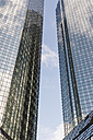 Germany, Hesse, Frankfurt, facades of two high-rise buildings - FMKY000513