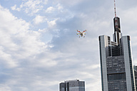 Germany, Hesse, Frankfurt, flying drone - FMKYF000514