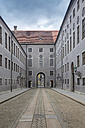 Germany, Bavaria, Munich, Historic Roadway in one of the atriums of Munich Residence - NK000184