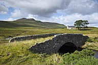 UK, Scotland, Altnaharra, old bridge overgrown with grass - ELF001325