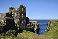 United Kingdom, Scotland, Wick, Northeast Coast, Ruin Castle Sinclair Girnigoe - ELF001362