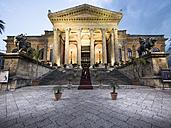 Italy, Sicily, Palermo, Teatro Massimo at Piazza Verdi - AMF002878