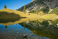 Germany, Bavaria, Allgaeu, Allgaeu Alps, Unterer Gaisalpsee - WGF000471