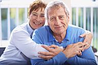 Happy senior couple at home - ZEF001055
