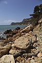 Spain, Balearic Islands, Ibiza, Cala Es Cubells, Meditteranean Sea - TKF000405