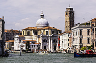 Italy, Veneto, Venice, Palazzo Labia and Church Santa Croce by the canal - THAF000685