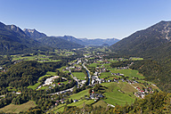 Austria, Upper Austria, Salzkammergut, View to Bad Ischl and Ischl river - SIEF006034