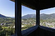 Austria, Upper Austria, Salzkammergut, Siriuskogel, Viewpoint, View to Bad Ischl - SIEF006039
