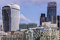 UK, London, Southwark, Financial district with Tower 42 and 20 Fenchurch Street - THAF000697
