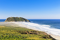 USA, California, Big Sur, Pacific Coast, National Scenic Byway, Point Sur State Historic Park, View to Point Sur Lighthouse - FOF007258