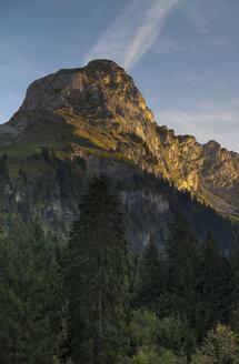 Switzerland, Canton of Glarus, Kloen Valley, Ochsenchopf, Sunrise - HLF000739