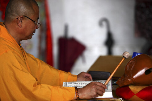 China, Yunnan, Dali, monk - DSG000200