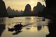 China, Guangxi, boats to transport tourists on Li river near Guilin - DSGF000217