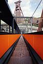 Germany, North Rhine-Westphalia, Essen, Zollverein Coal Mine Industrial Complex, Shaft tower, escalator - MS004301