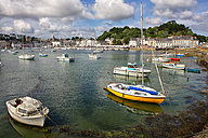 France, Brittany, Audierne, Boats at harbour - DSG000734