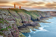 France, Brittany, Cap Frehel with lighthouse - DSG000259